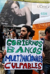 15M 2011en la Puerta del Sol.