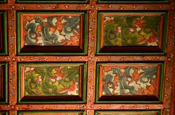 Detalle del artesonado del Monasterio de San Antonio el Real