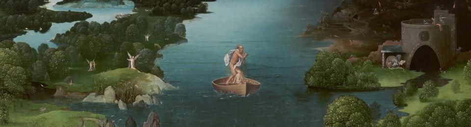 El paso de la laguna estigia. Joaquim Platinir. 1520-1524. Museo del Prado