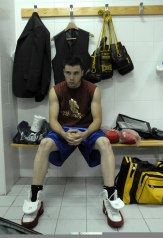Christian antes del combate.