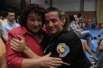 Rubén Nieto y su madre antes del combate