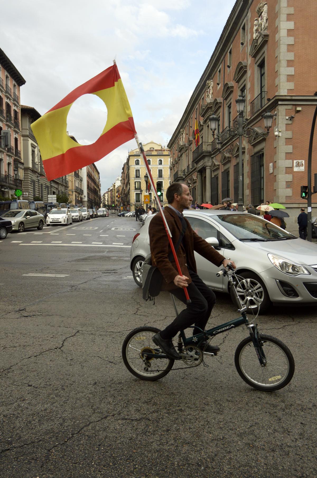 Durante la visita de Obiang Nguema a Madrid, 31/03/2014