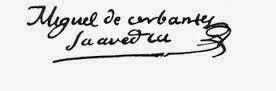 Cervantes escribía con B su apellido