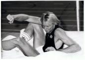 Algunos atletas, a pesar de haber sido excepcionales se vieron ensombrecidos por el ascenso meteórico de otro contemporáneo. Le pasó a Carlo Thränhardt, que a pesar de tener una extraordinaria plusmarca de 2,40 no pudo vencer al cubano-hispano Javier Sotomayor (2,45), que le superó en las competiciones internacionales. En la foto aparece en una prueba celebrada en el Palacio de los Deportes, Madrid, febrero, 1988.