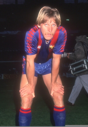Schuster durante la final de copa de 1988, que ganó a la Real Sociedad en el Bernabeu.