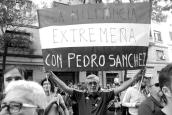 Una mayoría de seguidores de Pedrosánchez apoyaban con espíritu guerrillero a su líder espiritual.