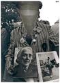 Brigadista no identificado en el homenaje a las Brigadas Internacionales en su cincuenta aniversario.