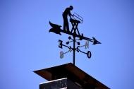 Veleta en un tejado de Lupiana