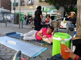 Sindicalista en huelga de hambre en Lavapiés, mayo 2016