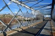 Puente de hierro en Titulcia, sobre el Jarama.
