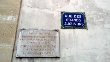 9, rue des Grand Augustins, París y Picasso. Pronto se dirá de vosotros lo que decís ahora de nosotros: ¡murieron!