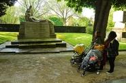 Monumento a los héroes italianos que tomaron parte en la 2ª GM al lado de Francia. Père Lachaise, París.