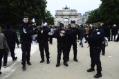 Cordón de seguridad en Jardin des Tuileries