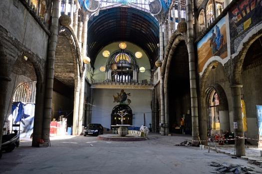Interior de la catedral de Justo Gallego, en Mejorada del Campo.