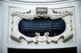 Tumba donde reposan las cenizas de Cayetana de Alba, en el panteón de la Casa de Alba, en Loeches.