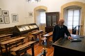 El aula donde Machado daba clases de francés en el Instituto que lleva su nombre, en Soria. No parece que fuera un gran parlante de la lengua de Víctor Hugo, apenas si pasó temporadas en la Ville Lumiere.
