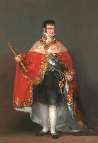 Fernando VII con manto real