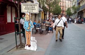 La Calle Santiago, por la que anduvo Fortunata en la primera parte de la novela, en la actualidad. Todo el callejero del centro de Madrid es, de alguna manera, el escenario de las obras de Galdós, por las que pasean y viven sus personajes.