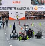 Salida de la prueba de bicicleta adaptada, unos segundos antes de la carrera popular.