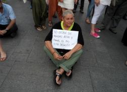 Manifestante en junio de 2014, cuando la abdicación de Juan Carlos I.