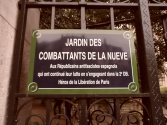 Placa homenaje a los republicanos de la Nueve que liberaron París el 24 de agosto de 1944