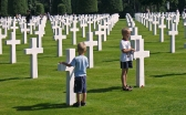 Cementerio de Colleville-sur-Mer, donde reposan los restos de 9387 soldados aliados.