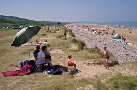 Vista de la playa de Arromanches, llamada en clave Omaha Beach