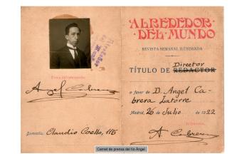 Carnet de prensa de Ángel Cabrera