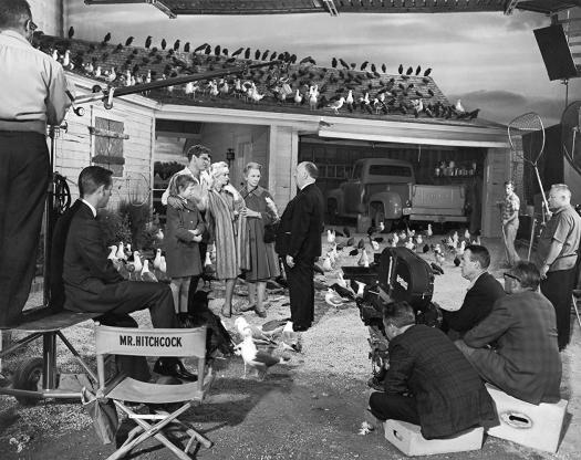 Rodaje de Los Pájaros, 1963