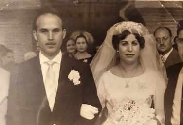 Miguel y Luisa el día de su boda, 9 de noviembre de 1959.
